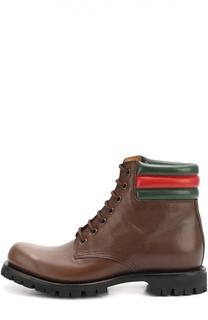 Кожаные ботинки Marland на шнуровке Gucci