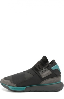 Текстильные кроссовки Qasa с замшевой отделкой Y-3