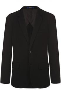 Хлопковый однобортный пиджак Polo Ralph Lauren