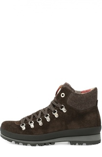 Замшевые ботинки с текстильной отделкой Bogner