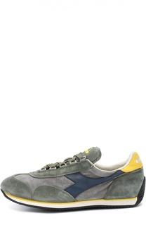 Замшевые кроссовки с кожаной отделкой Diadora Heritage