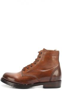 Кожаные ботинки с круглым мысом Officine Creative