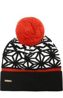 Вязаная шапка с геометрическим узором Dsquared2