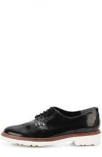Лаковые ботинки на контрастной подошве ROBERT CLERGERIE
