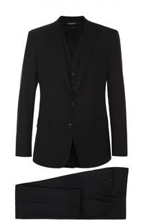 Шерстяной костюм-тройка Dolce & Gabbana