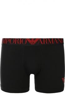 Удлиненные хлопковые боксеры с широкой резинкой Emporio Armani
