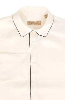 Шелковая сорочка свободного кроя Burberry