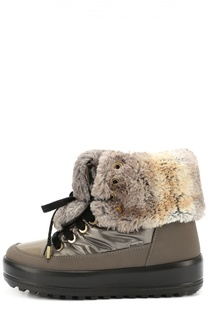 Текстильные ботинки с меховой отделкой Jog Dog