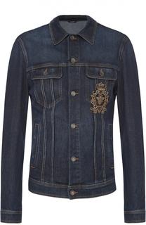 Джинсовая куртка с вышивкой Dolce & Gabbana