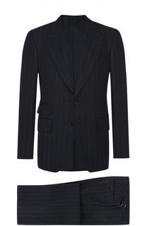 Шерстяной приталенный костюм Tom Ford