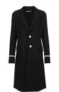Пальто прямого кроя с контрастной декоративной отделкой Givenchy