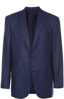 Однобортный пиджак из смеси шелка и кашемира Brioni