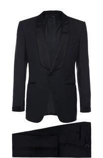 Шерстяной смокинг с шелковыми лацканами Tom Ford