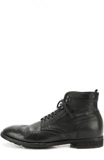Кожаные ботинки с брогированием Officine Creative