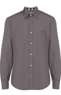 Хлопковая рубашка с воротником кент Burberry