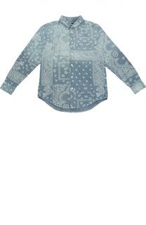 Джинсовая рубашка с узором пейсли Polo Ralph Lauren