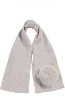 Вязаный шарф с помпоном Catya