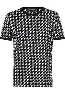 Хлопковая футболка с принтом в виде револьверов Dolce & Gabbana