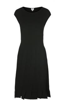 Приталенное платье с юбкой в складку Armani Collezioni