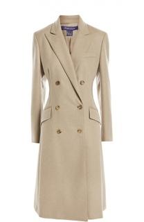 Двубортное приталенное пальто с карманами Ralph Lauren