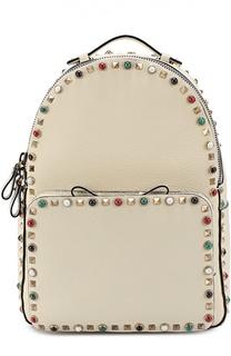 Кожаный рюкзак Rockstud Rolling с вышитым ремнем Valentino