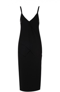 Платье-комбинация с оборками и высоким разрезом Rochas