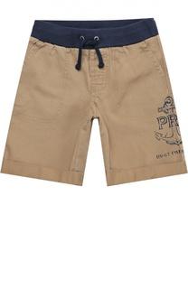 Хлопковые шорты с поясом на резинке Polo Ralph Lauren