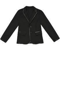 Однобортный пиджак из эластичного хлопка Giorgio Armani