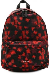 Рюкзак с принтом и отделкой из кожи Givenchy