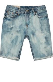 Джинсовые шорты с необработанным краем Polo Ralph Lauren