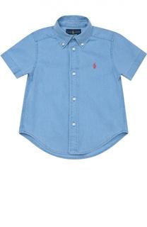 Рубашка из смеси льна и хлопка с короткими рукавами Polo Ralph Lauren