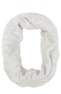 Вязаный шарф-хомут из кашемира Johnstons Of Elgin