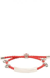 Кожаный браслет с черепами Alexander McQueen