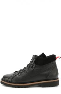 Кожаные ботинки на шнуровке Kiton