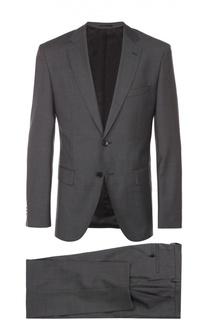 Шерстяной приталенный костюм BOSS