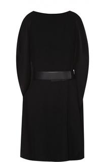 Платье со спущенным рукавом и широким поясом Armani Collezioni