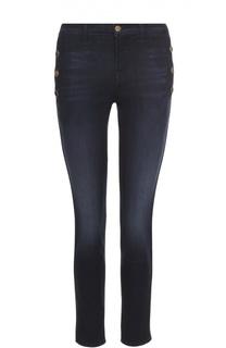 Укороченные джинсы-скинни с декоративной отделкой J Brand