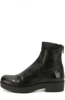 Кожаные ботинки на массивной подошве Baldan