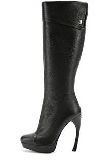 Кожаные сапоги на фигурной шпильке Alexander McQueen