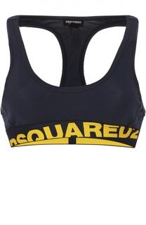 Спортивный топ с контрастной надписью Dsquared2