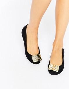 Балетки с золотистой отделкой Vivienne Westwood for Melissa - Черный