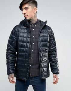 Пуховая стеганая куртка с капюшоном Columbia Trask Turbodown - Черный