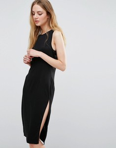 Трикотажное платье с боковыми разрезами Unique 21 - Черный