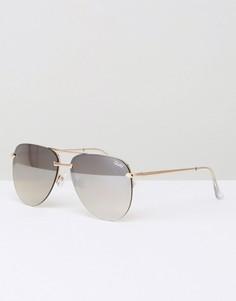 Солнцезащитные очки‑авиаторы без оправы Quay Australia The Playa - Золотой