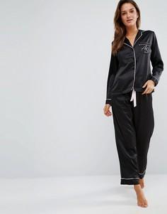 Атласная пижама Ann Summers - Черный