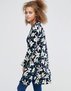 Длинное кимоно Poppy Lux Madrid - Темно-синий