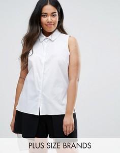 Рубашка с асимметричным краем Elvi Plus - Белый