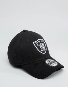 Замшевая кепка New Era 39Thirty Oakland Raiders - Черный