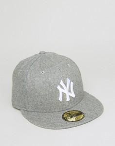 Кепка без регулируемого ремешка сзади New Era 59Fifty NY Yankees - Серый