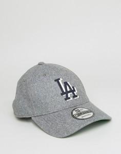 Регулируемая фетровая кепка New Era 9Twenty LA Dodgers - Серый